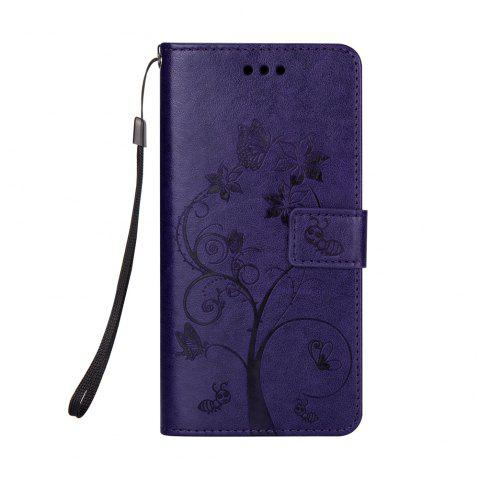 Ants On The Tree PU Leather Dirt Resistant Phone Case for Samsung Galaxy J730 - PURPLE