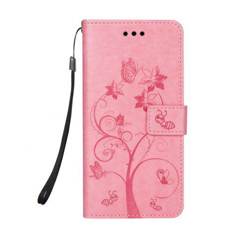 Ants On The Tree PU Leather Dirt Resistant Phone Case for Samsung Galaxy J730 - PINK