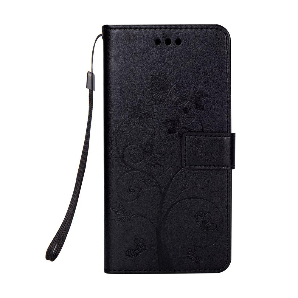 Ants On The Tree PU Leather Dirt Resistant Phone Case for Samsung Galaxy J730 - BLACK