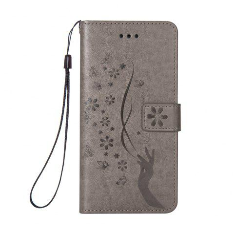 Slender Hand PU Leather Dirt Resistant Phone Case for iPhone 6 - GRAY