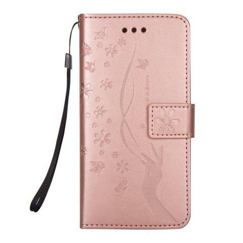 Slender Hand PU Leather Dirt Resistant Phone Case for iPhone 6 - ROSE GOLD