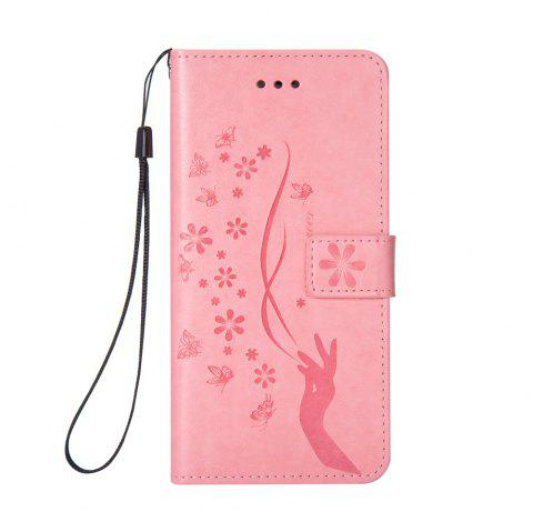 Slender Hand PU Leather Dirt Resistant Phone Case for iPhone 6 - PINK