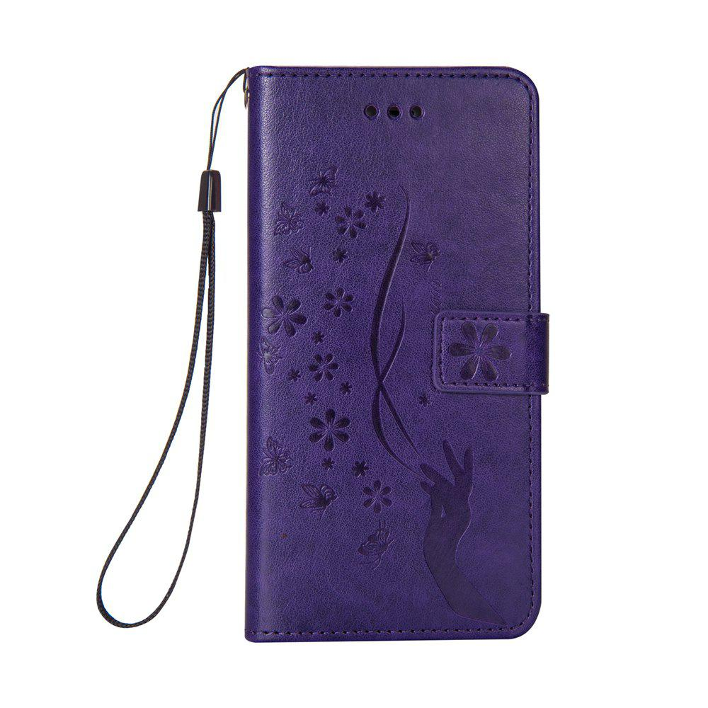 Slender Hand PU Leather Dirt Resistant Phone Case for iPhone 6 - PURPLE