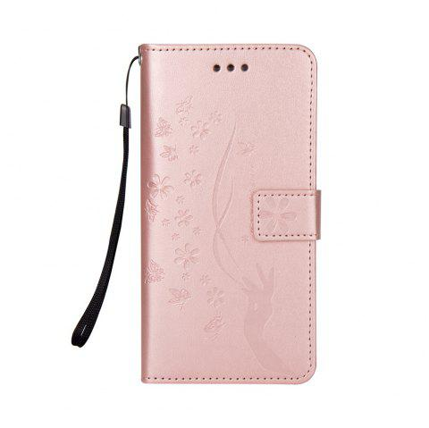 Slender Hand PU Leather Dirt Resistant Phone Case for Samsung Galaxy S7 - ROSE GOLD