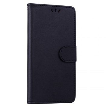 Solid Color Pattern PU Leather Wallet Case for Huawei P10 Lite - BLACK