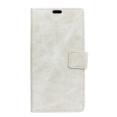 Genuine Quality Retro Style Crazy Horse Pattern Flip PU Leather Wallet Case for Xiaomi Redmi  4X - WHITE