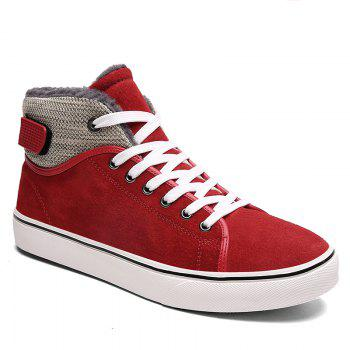 Autumn and Winter Plus Velvet High To Help Casual Men'S Shoes - RED RED