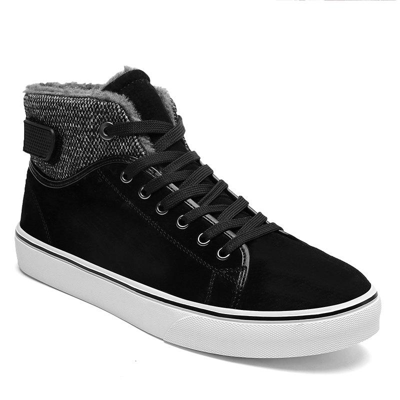Autumn and Winter Plus Velvet High To Help Casual Men'S Shoes - BLACK 44