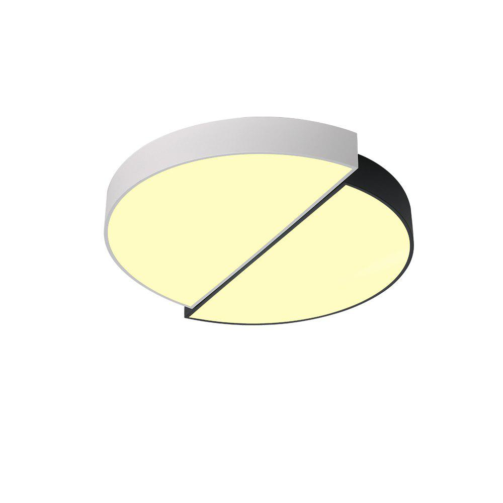 JX729 - 12W - 3S Tricolor Dimming Ceiling Light AC 220V - BLACK WHITE
