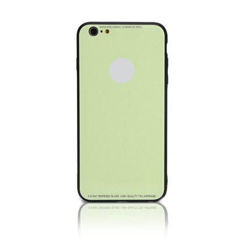 Tempered Glass Case Drop-proof Hybrid Back Case for iPhone 6/6S 4.5 inch - LIGHT GREEN