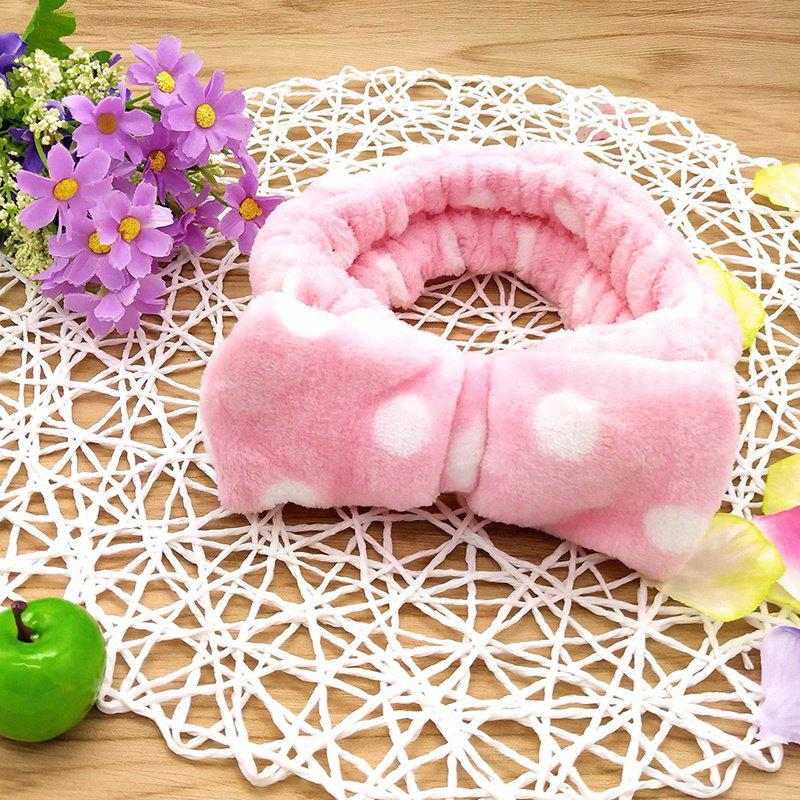 Laver le visage Hairband Cute Lady douche Hairband - Comme Photo