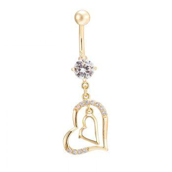 KUNIU Hearts with CZ Navel Ring P0018