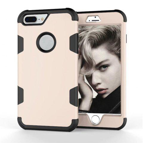 Color Silicone PC Case for iPhone 7 Plus / 8 Plus - CHAMPAGNE GOLD