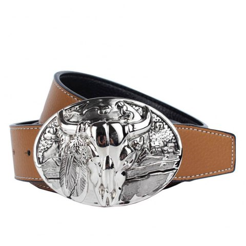 Western Cowboy Belt Leather - YELLOW LEATHER BAND