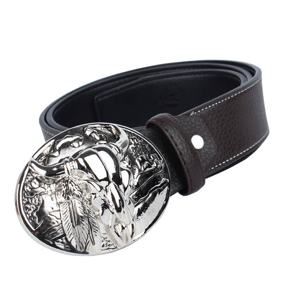 Ceinture western cowboy en cuir - café LEATHER BAND