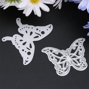 2Pcs Metal Butterfly Cutting Dies Stencils for DIY Scrapbooking Photo Album - SILVER