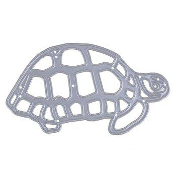 Tortoise Metal Cutting Dies Template Embossing Folder Stencil DIY Scrapbook - SILVER SILVER
