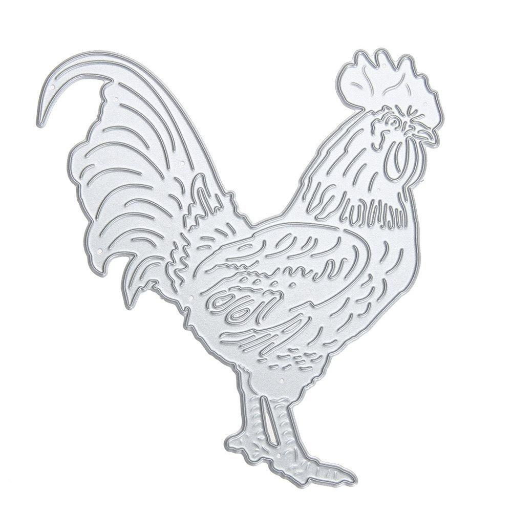 Metal DIY Cutting Dies Love Cartoon Chicken Scrapbook Album Decoration Crafts - SILVER