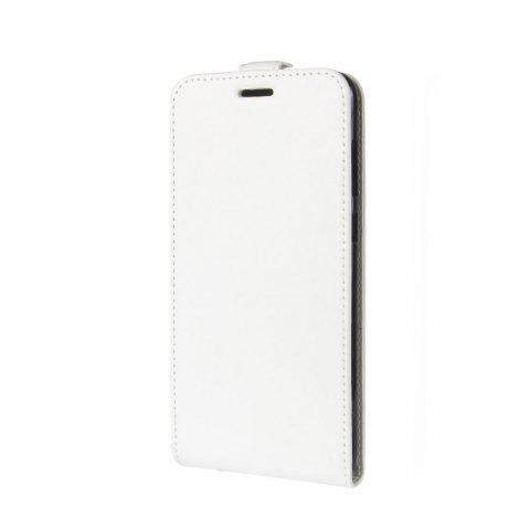 Luxury Vertical Flip Leather PU Case for Huawei Honor 7X - WHITE