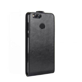 Luxury Vertical Flip Leather PU Case for Huawei Honor 7X - BLACK