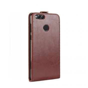 Luxury Vertical Flip Leather PU Case for Huawei Honor 7X - BROWN