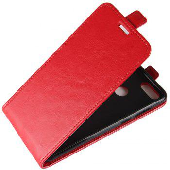 Luxury Vertical Flip Leather PU Case for Huawei Honor 7X - RED