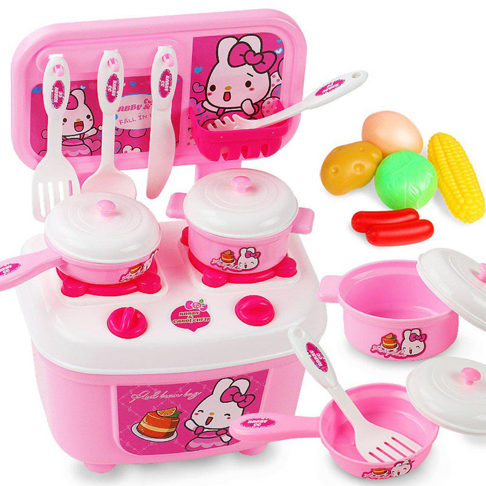 Children Kitchen Set Pretend Play Cut Toy Utensils 9-30PCS Fruit Vegetables Plastic Kids Cook Food Eduacation Game pizza balance game pile up balancing desktop toy pretend play food small family plastic building blocks toys for children