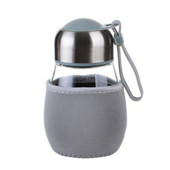 DIHE Cute Cloth Case Potbelly Penguin Glass Cup High Temperature Resistance - GRAY GRAY