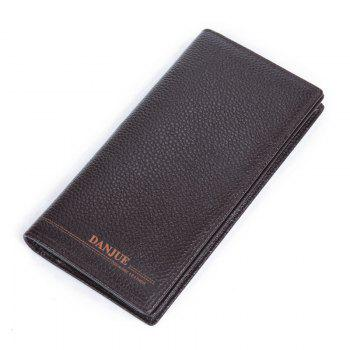 DANJUE New Genuine Leather Wallets for Men'S Long Real Leather Business Purse Fashion Clutches Bag