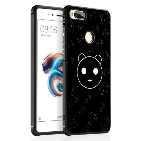 Cartoon Panda Design Ultra Slim TPU Shockproof Black Silicone Soft Back Case for Xiaomi Mi 5X - BLACK