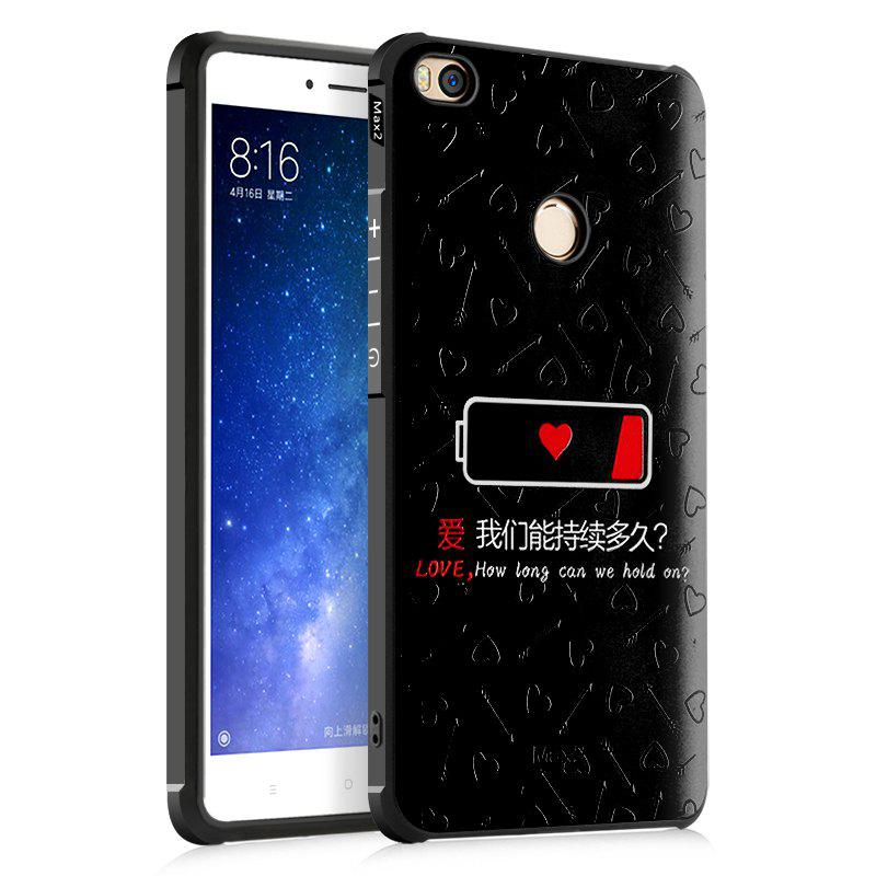 Love Design Ultra Slim TPU Shockproof Black Silicone Soft Back Case for Xiaomi Mi Max 2 - BLACK