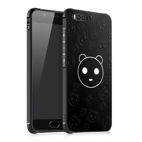 Cartoon Panda Design Ultra Slim TPU Shockproof Black Silicone Soft Back Case for Xiaomi Mi 6 - BLACK
