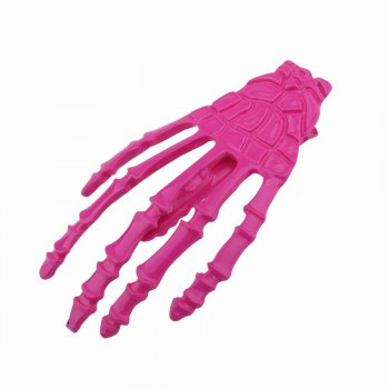 Japanese Stylish Cool Hair Accessory Skeleton Hairpin - ROSE RED