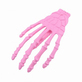 Japanese Stylish Cool Hair Accessory Skeleton Hairpin -  PINK