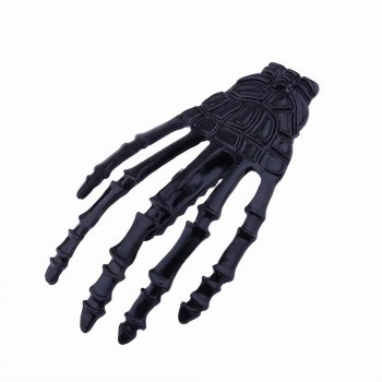 Japanese Stylish Cool Hair Accessory Skeleton Hairpin -  BLACK