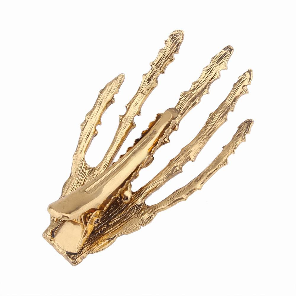 Japanese Stylish Cool Hair Accessory Skeleton Hairpin - ANTIQUE GOLD
