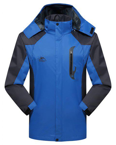 2017 Hommes Causal Sports Water Proof Softshell - Bleu 4XL