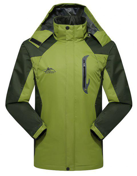 2017 Hommes Causal Sports Water Proof Softshell - Vert d/ 39;herbe 4XL