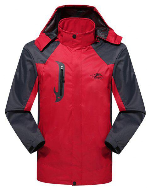 2017 Hommes Causal Sports Water Proof Softshell - Rouge 4XL