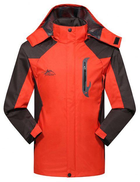 2017 Hommes Causal Sports Water Proof Softshell - Tangerine 4XL
