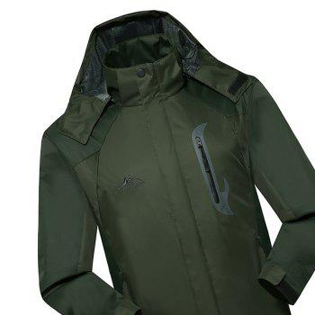 2017 Hommes Causal Sports Water Proof Softshell - Vert d'Armée 3XL