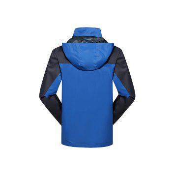 2017 Hommes Causal Sports Water Proof Softshell - Bleu XL