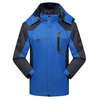 2017 Men Causal Sports Water Proof Softshell - BLUE BLUE