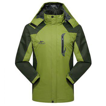 2017 Men Causal Sports Water Proof Softshell - GRASS GREEN GRASS GREEN