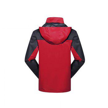 2017 Hommes Causal Sports Water Proof Softshell - Rouge XL