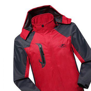 2017 Men Causal Sports Water Proof Softshell - RED 4XL