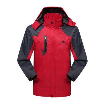 2017 Men Causal Sports Water Proof Softshell - RED RED