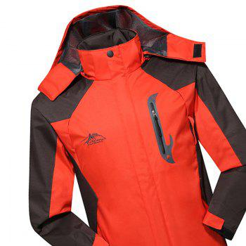 2017 Hommes Causal Sports Water Proof Softshell - Tangerine 2XL