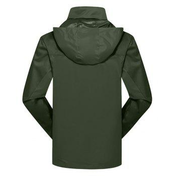 2017 Hommes Causal Sports Water Proof Softshell - Vert d'Armée L