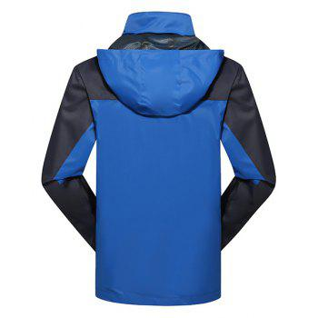 2017 Hommes Causal Sports Water Proof Softshell - Bleu 2XL